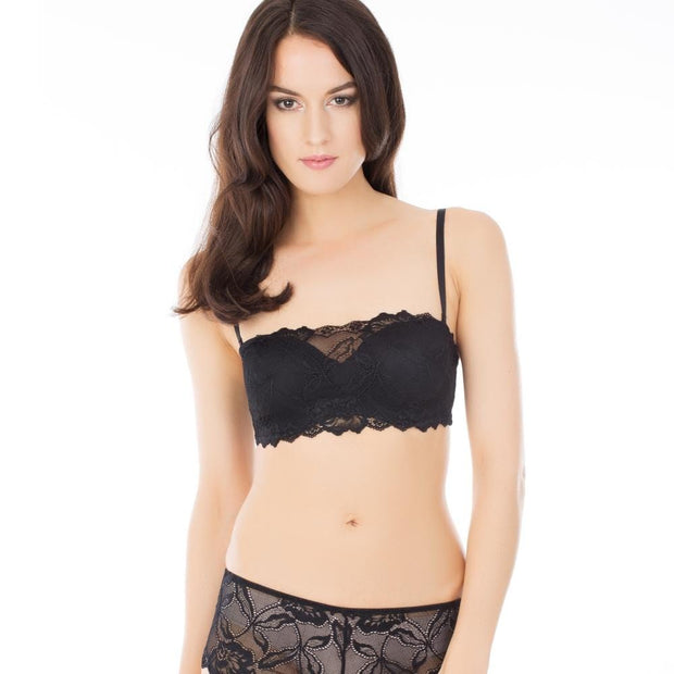 Anna Bandeau Bra and Short - Black