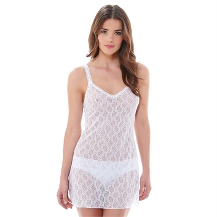 B.Tempt'd Lace Kiss Chemise - White