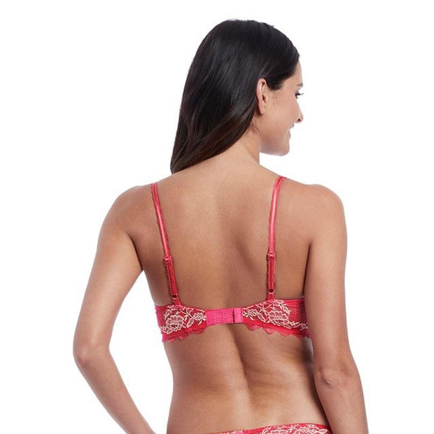 Lace Perfection Plunge Push Up Bra Back