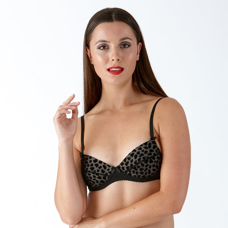 Little Women BETTE Animal Flock Bra - Gorgeous Small Cup Bra