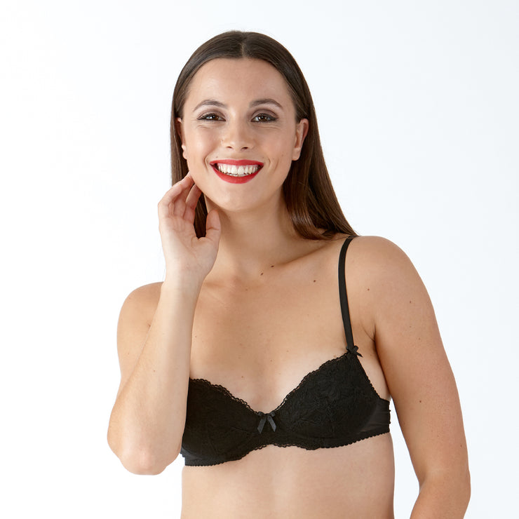 Little Women Perfectly You Bra - Black Medium Padded Wirefree Bra From The Small Bra Specialists