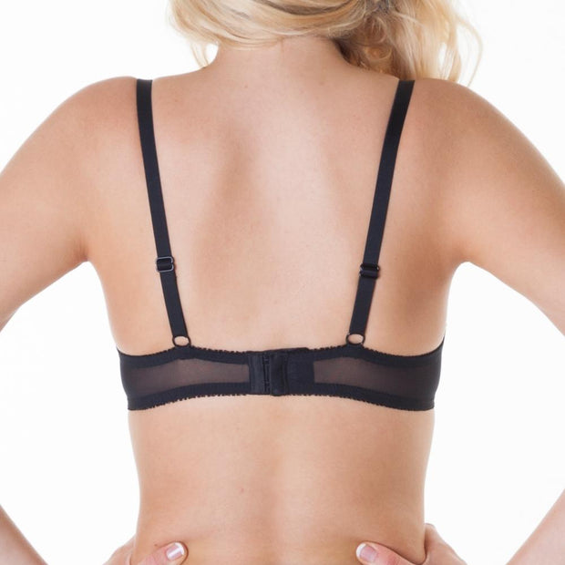 Little Women Pearl Bra - Black Back View