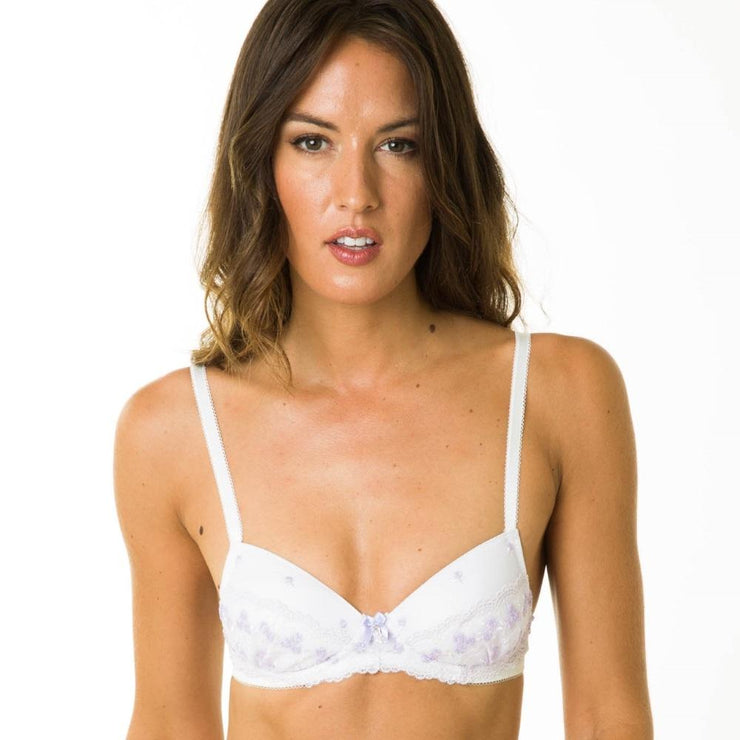 Emma Bra Lilac - Non-Wired Medium Padded Small Bra From Little Women Lingerie