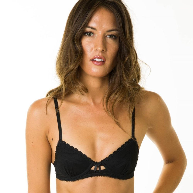 Little Women Layla Bra In Black - Beautiful Small Bra