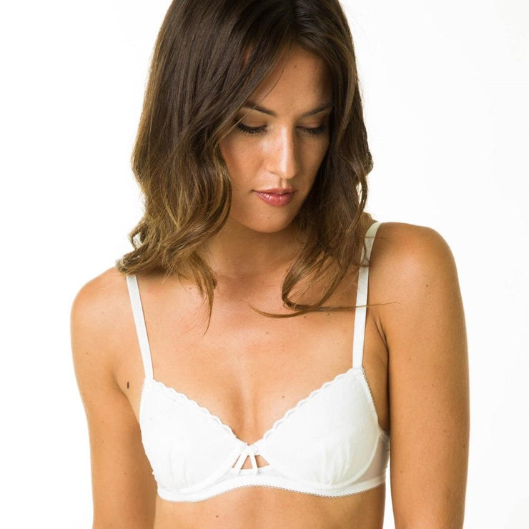 Layla Bra White - Underwired Small Bras from Littlewomen.com