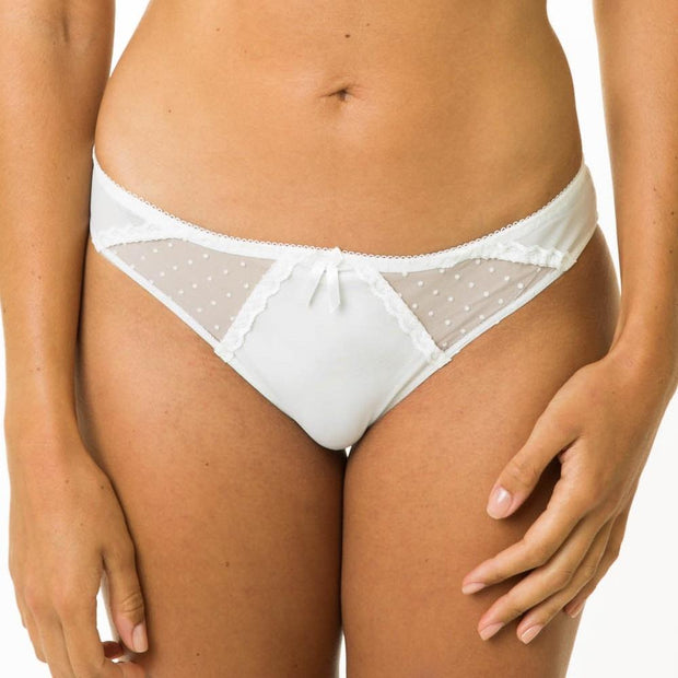 Layla Brief White - From Little Women The Petite Lingerie Specialists