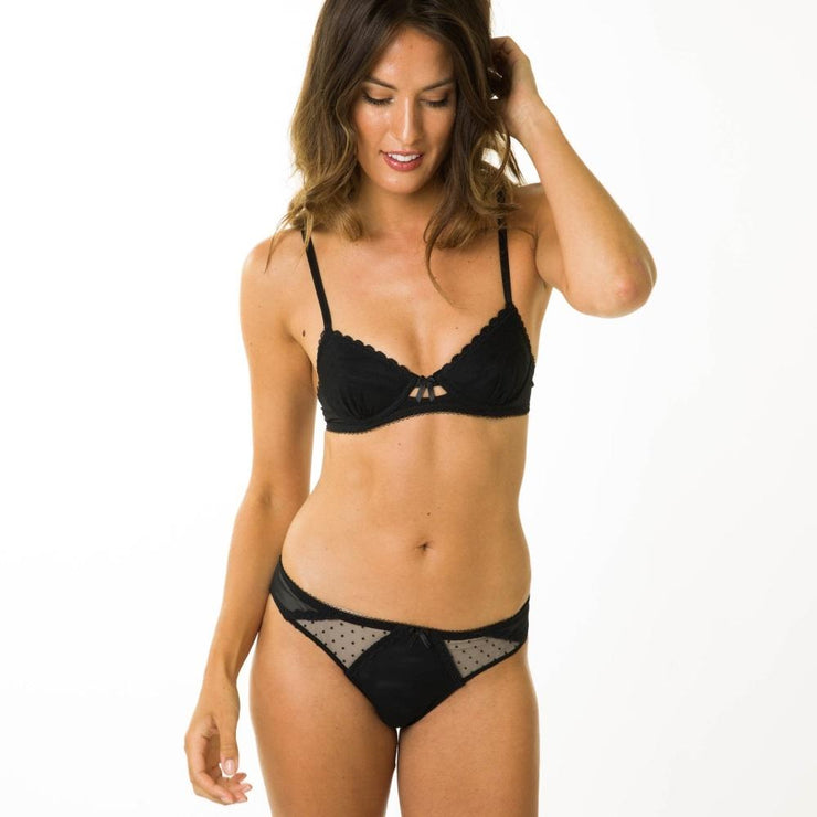 Little Women Layla Bra As A Set In Black