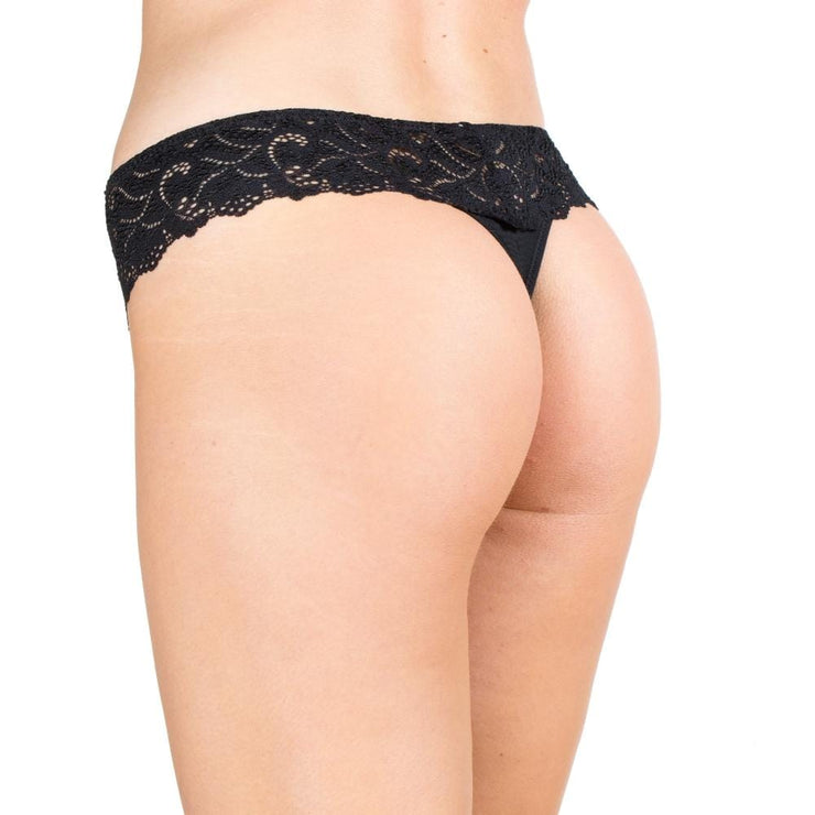 Little Women Thong - Black