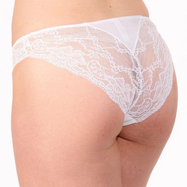 The LittleWomen Brief White Back View - Petite Lingerie In 3 Colours