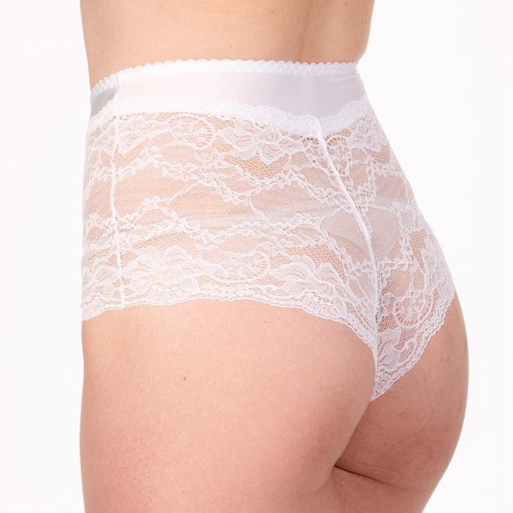 LittleWomen Short Brief white Back - Available In 3 Colours - Petite Lingerie From Little Women