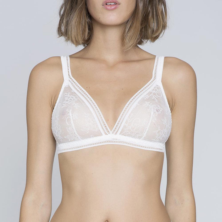 Miss Lejaby Triangle Bra lys- white