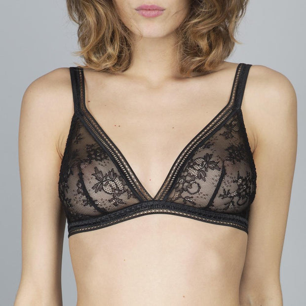 Miss Lejaby Triangle Bra Black