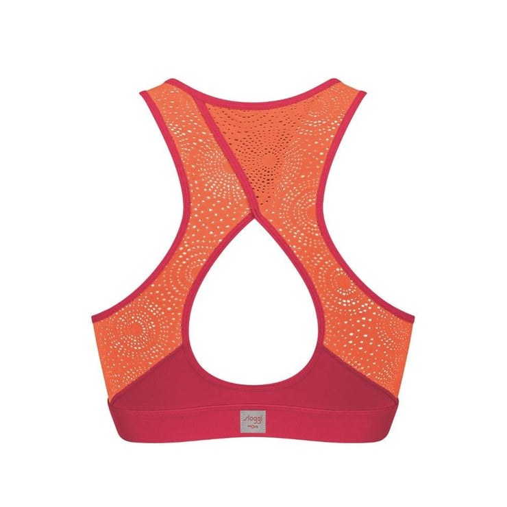 Sloggi mOve FLY Top Pink & Orange Back