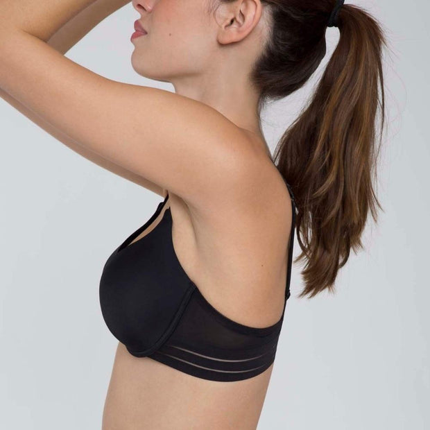 Nufit Push Up Bra Black Side