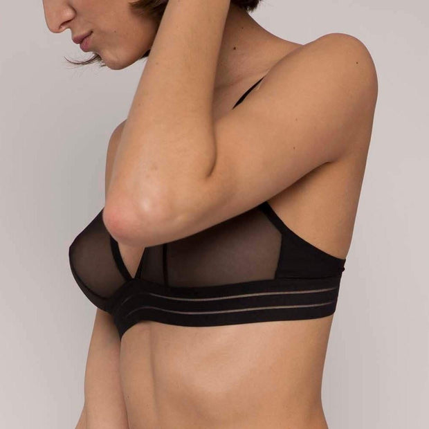 Nufit Triangle Bra Black Side