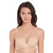 Embrace Lace Petite Push Up Underwired Bra - nude