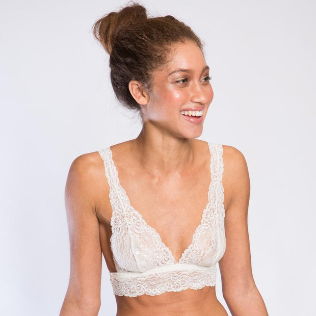 Serenity Bralette Champagne Front