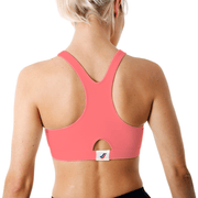 Sportjock Sports Bra - Neon Coral Back View