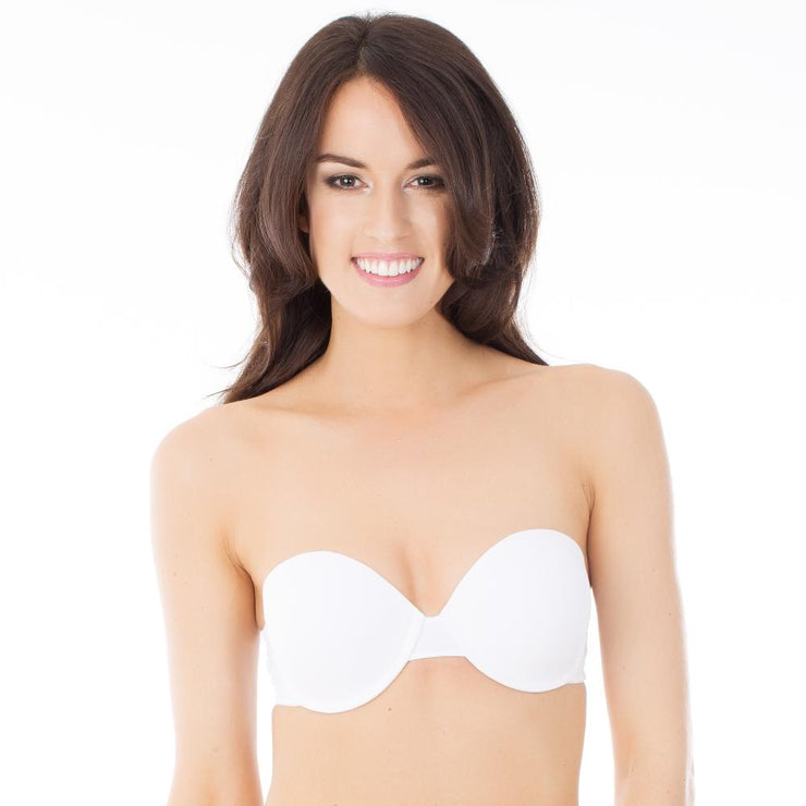 After Eden Double Boost Strapless Bra - White (strapless)