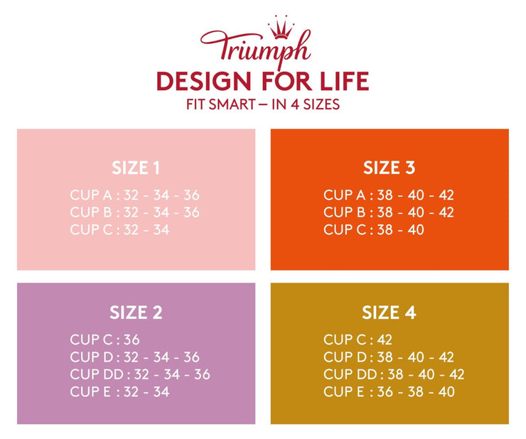 Triumph  fit smart sizing chart