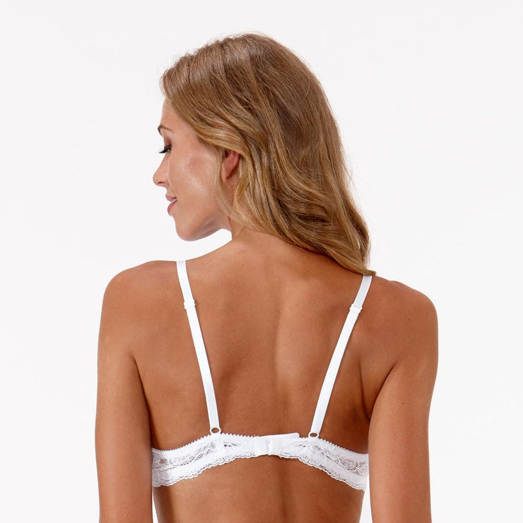 Little Women Very You Bra Back View in White - Small Petite Bra