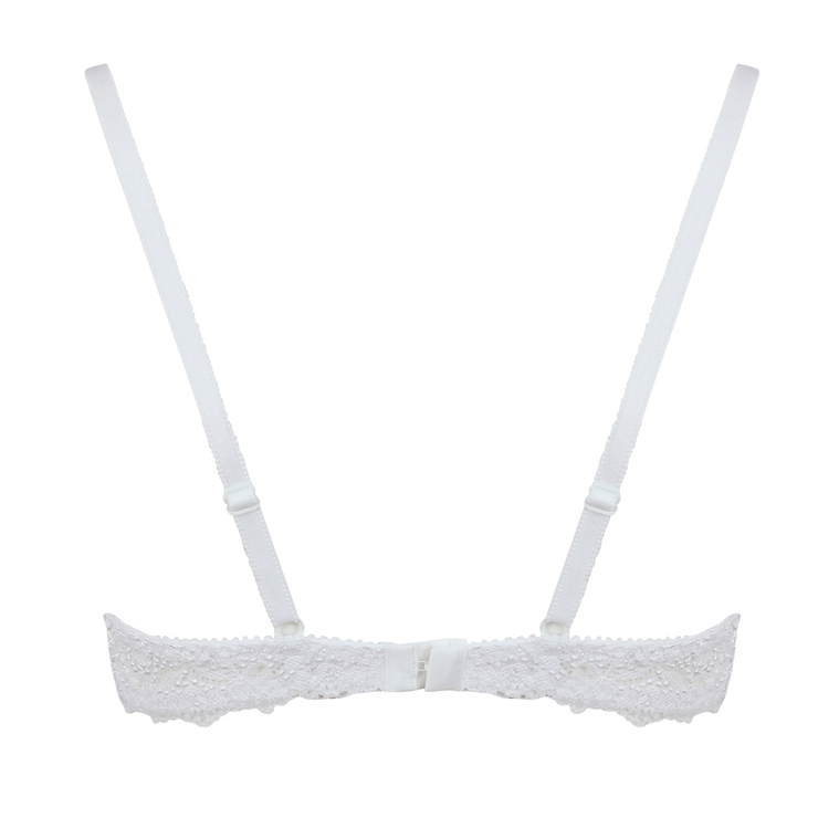 Little Women Very You Bra Cutout Back - Small White Bra From 28 to 40 Inch Band Size