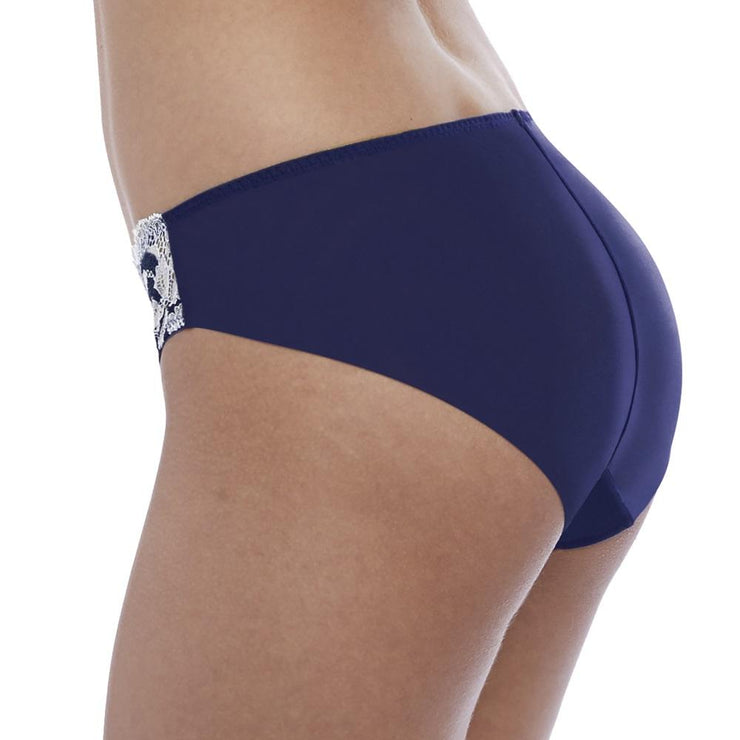 Lace Affair Brief Patriot Blue Back