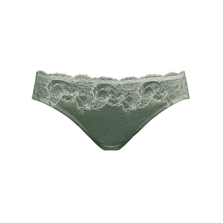 Lace Affair Brief Balsam Green