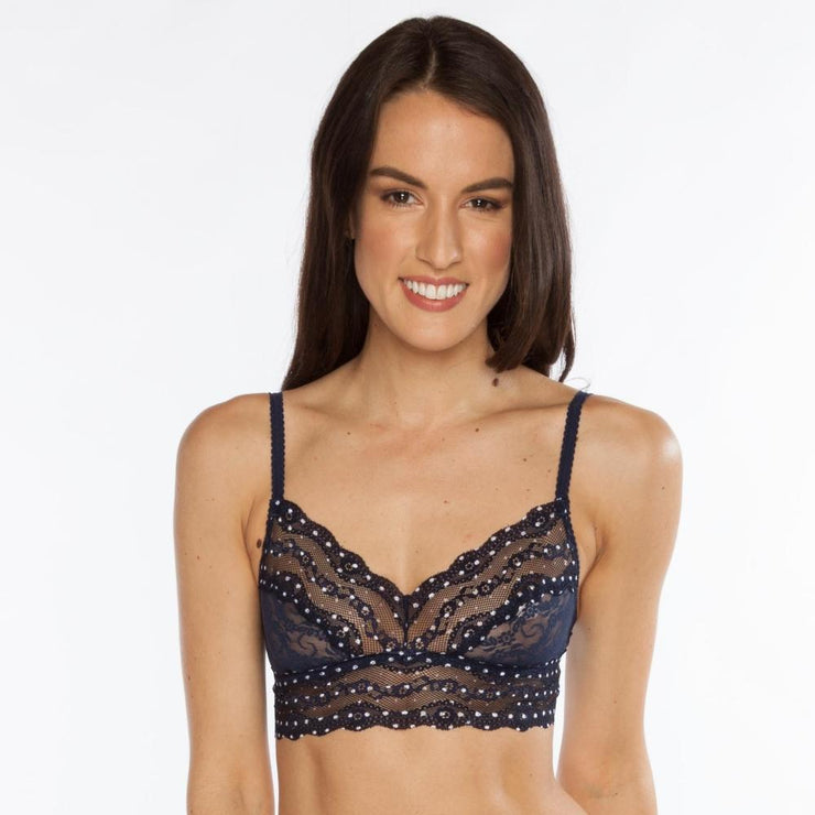 B.Tempt'd Lace Kiss Bralette - Peacoat Polka Dot