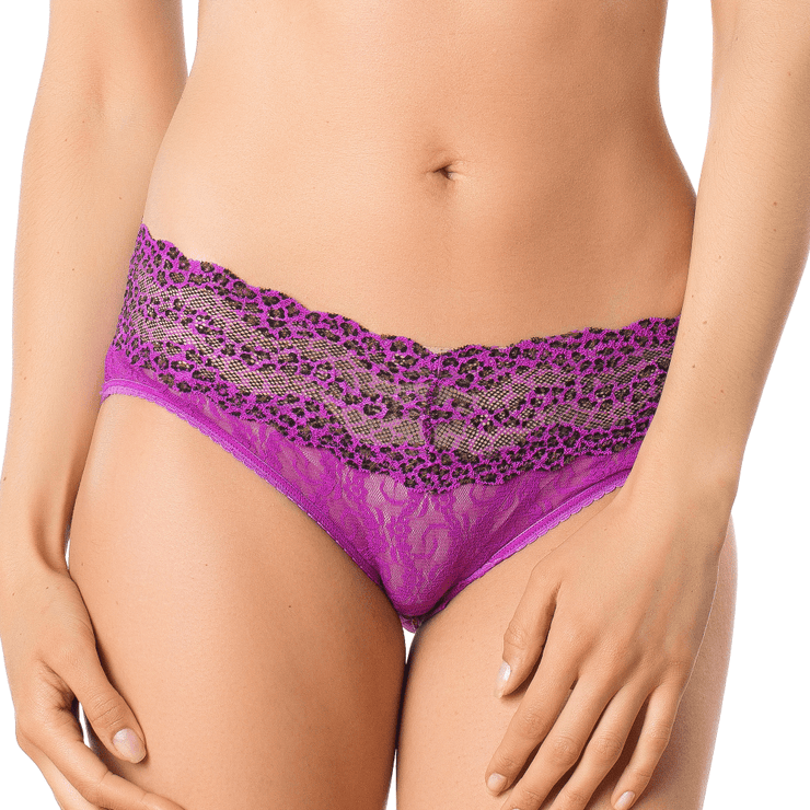 B.Tempt'd Lace Kiss Bikini Brief - Purple Cactus