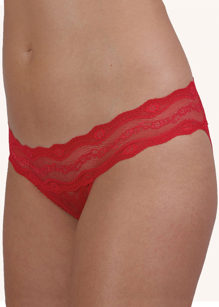 B.Tempt'd Lace Kiss Bikini Brief - Barberry