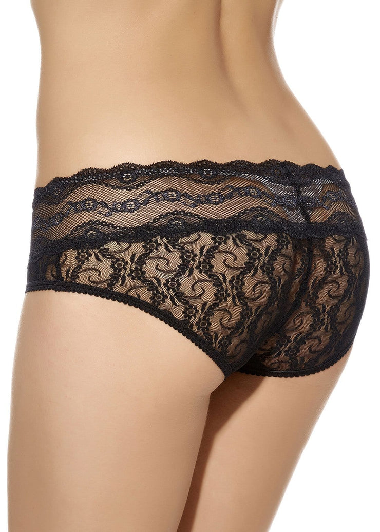 B.Tempt'd Lace Kiss Bikini Brief - Night