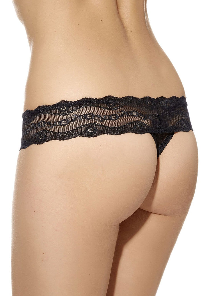 B.Tempt'd Lace Kiss Thong - Night