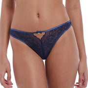 Undisclosed Lace Thong Set Patriot Blue