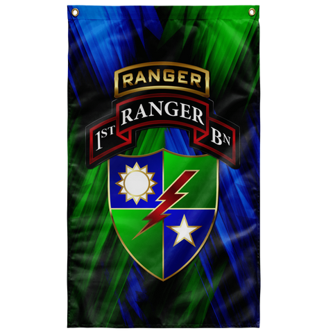 "1/75 Tabbed Regimental Flag Elite Flags Wall Flag - 36""x60"""