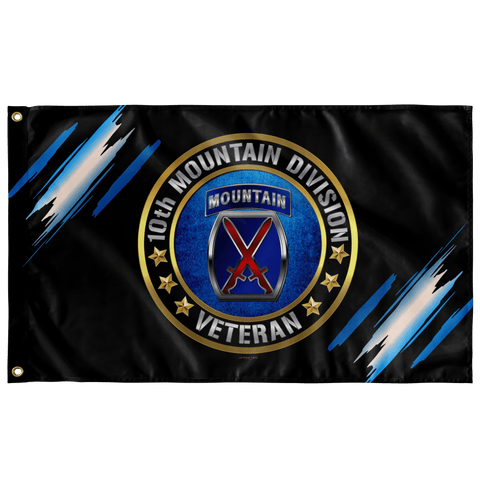"10th Mountain Division Veteran Flag Elite Flags Wall Flag - 36""x60"""