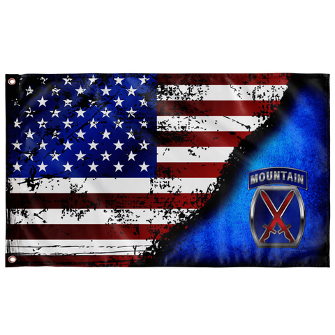 "10th Mountain Stares & Stripes Flag Elite Flags Wall Flag - 36""x60"""