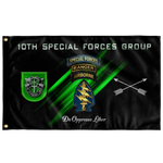 "10th Special Forces Group Tabbed Flag Elite Flags Wall Flag - 36""x60"""