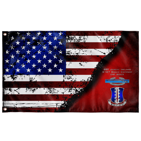 "187 CIB Stars & Stripes Flag Elite Flags Wall Flag - 36""x60"""