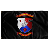 "1st Battalion 25th Marines Black Flag Elite Flags Wall Flag - 36""x60"""