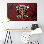 "1st Battalion 3rd Marines Red Flag Elite Flags Wall Flag - 36""x60"""
