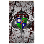 "1st Ranger Battalion Splatter Flag Elite Flags Wall Flag - 36""x60"""