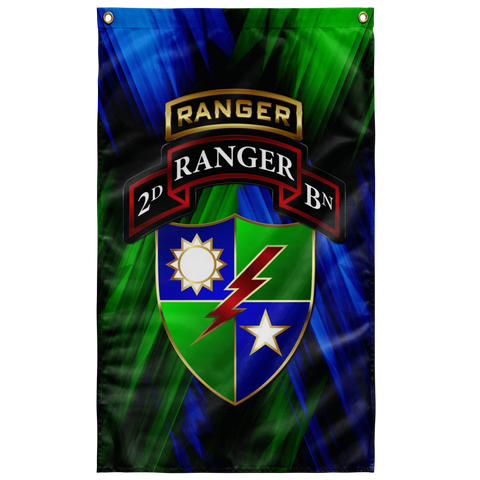 "2/75 Tabbed Regimental Flag Elite Flags Wall Flag - 36""x60"""