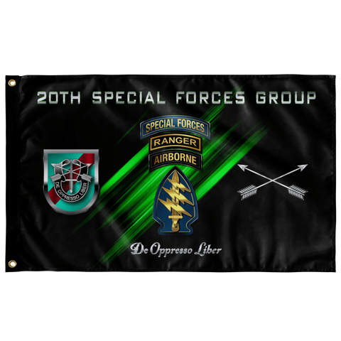 "20th Special Forces Group Tabbed Flag Elite Flags Wall Flag - 36""x60"""