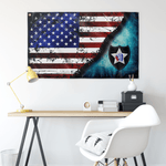 "2nd ID Stars & Stripes Flag Elite Flags Wall Flag - 36""x60"""