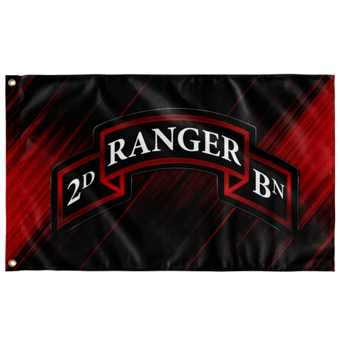 "2nd Ranger Battalion Scroll Flag Elite Flags Wall Flag - 36""x60"""