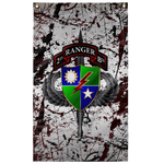 "2nd Ranger Battalion Splatter Flag Elite Flags Wall Flag - 36""x60"""