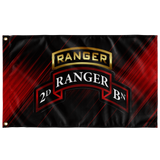 "2nd Ranger Battalion Tabbed Scroll Flag Elite Flags Wall Flag - 36""x60"""