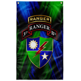 "3/75 Tabbed Regimental Flag Elite Flags Wall Flag - 36""x60"""