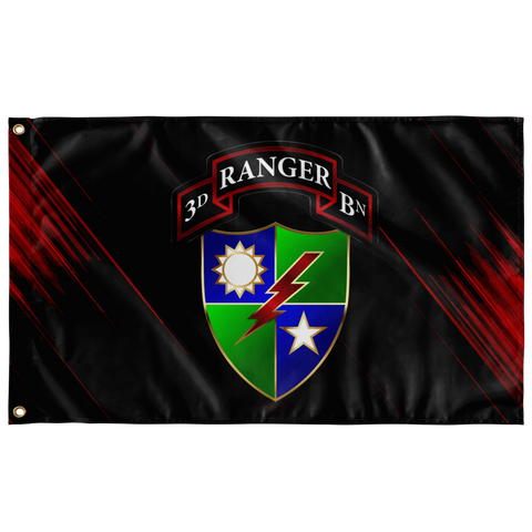 "3rd Ranger Battalion DUI/Scroll Flag Elite Flags Wall Flag - 36""x60"""